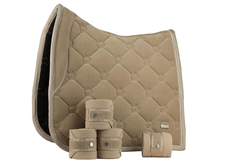 PS of Sweden Christmas Dressage Set - Tan Saddle Pad and Polo - The Dressage Store