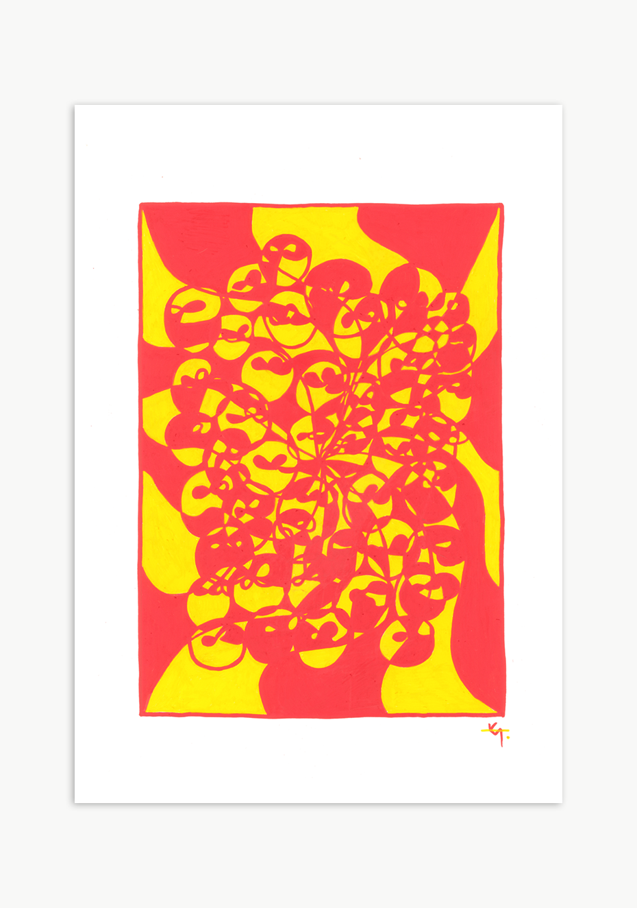 'Interloop' Series - Yellow/Red