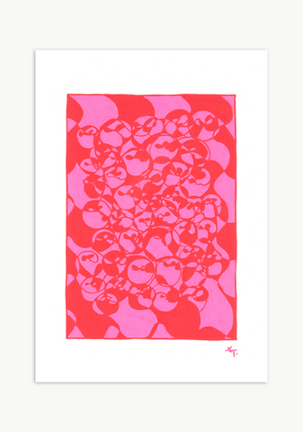 'Interloop' Series - Pink/Red