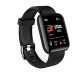 Black 116Plus Smart Watch, Fitness Tracker with Heart Rate Monitor & Support for Whatsapp - Express Delivery Option Available in South Africa (At Reduced Rates)