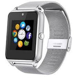Z60 Stainless Steel Bluetooth Touch Screen Fitness Tracker Smart Watch With Camera, SIM, TF Card Slot, GPS & Whatsapp Support - Express Delivery Option Available in South Africa (At Reduced Rates)