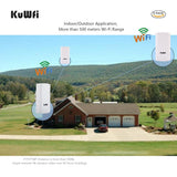 KuWFi 300Mbps Outdoor Wifi Wireless Router / Repeater Long Range 2.4Ghz up to 1KM