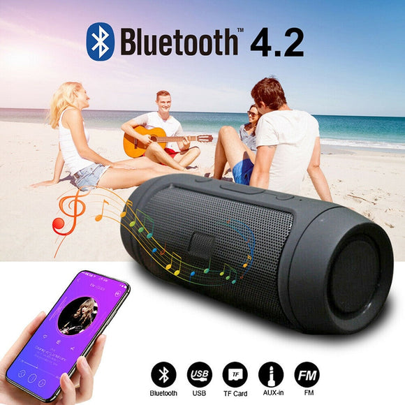Portable Waterproof Bluetooth Wireless Outdoor Stereo Bass Loudspeaker USB TF FM Radio