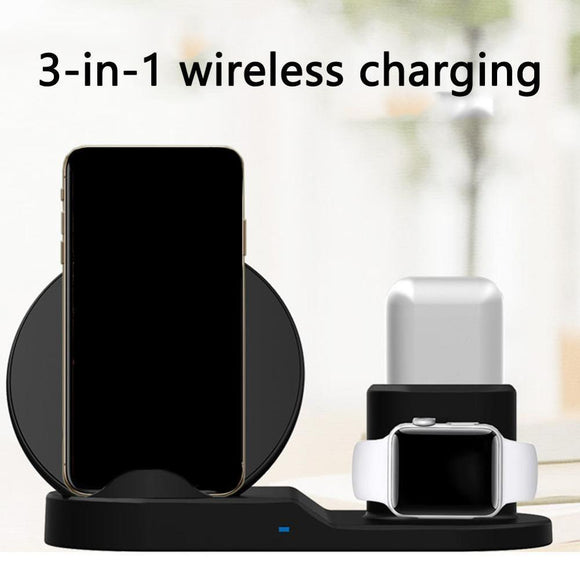 3 in 1 docking station with Qi 10W Wireless Charging Pad and Apple Watch and Earpods Charging Capability - Express Delivery Option Available in South Africa (At Reduced Rates)