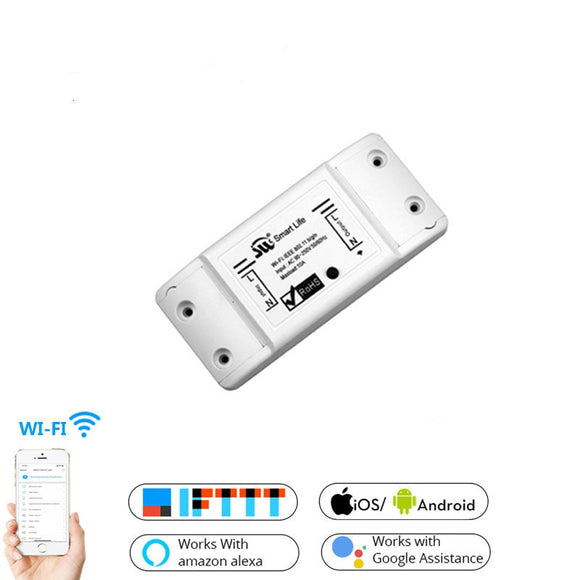 DIY WiFi Smart Light Switch Timer with Wireless Remote Control, works with Alexa and Google Assistant
