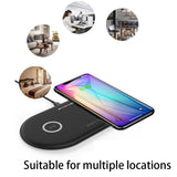 20W Dual Seat QI Wireless Fast Charging Pad for all Qi enabled phones - Express Delivery Option Available in South Africa (At Reduced Rates)