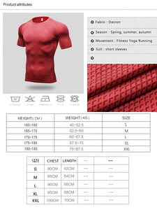 Men´s Compression Fitness T-shirt Short Sleeve