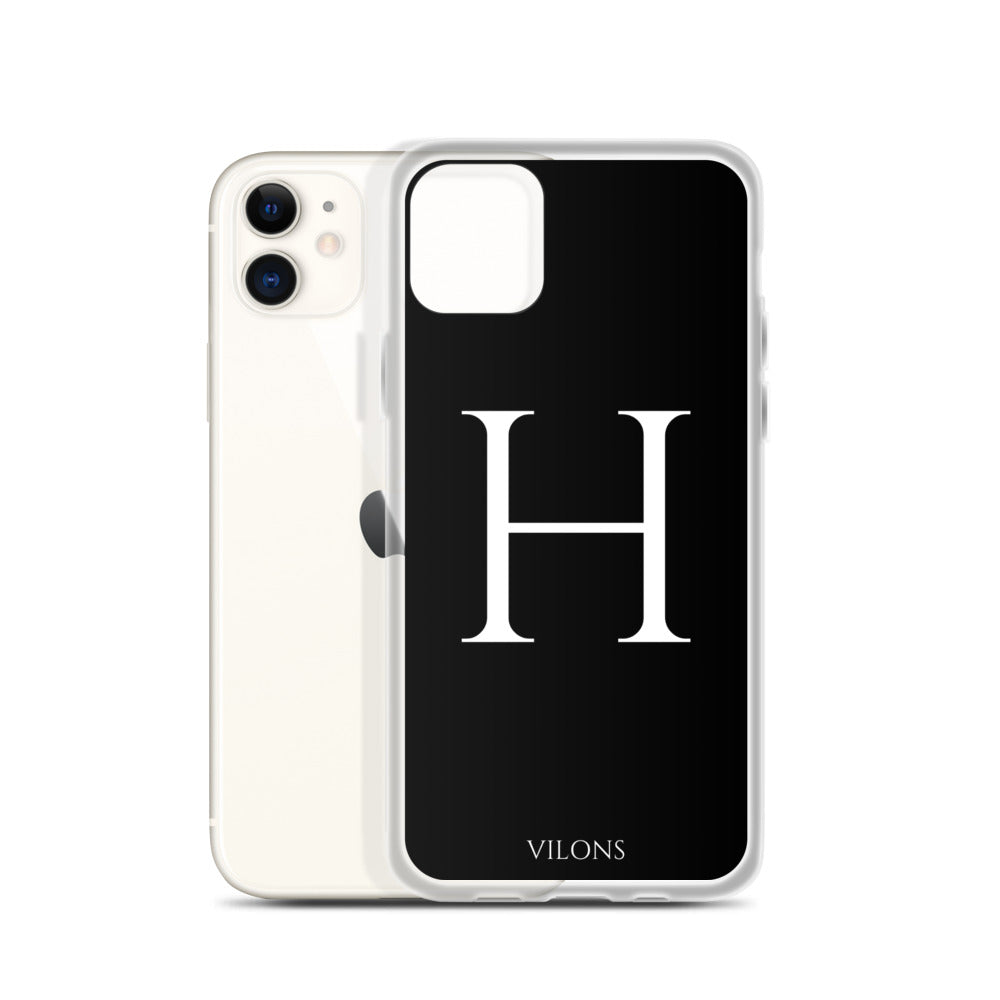H BLACK iPhone Case