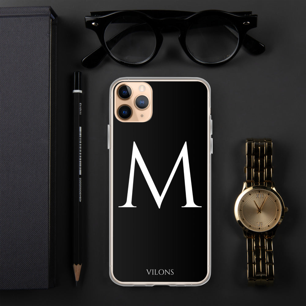 M BLACK iPhone Case