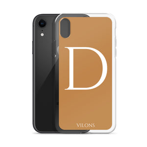 D BROWN iPhone Case