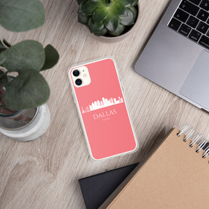 DALLAS PINK/WHITE iPhone Case