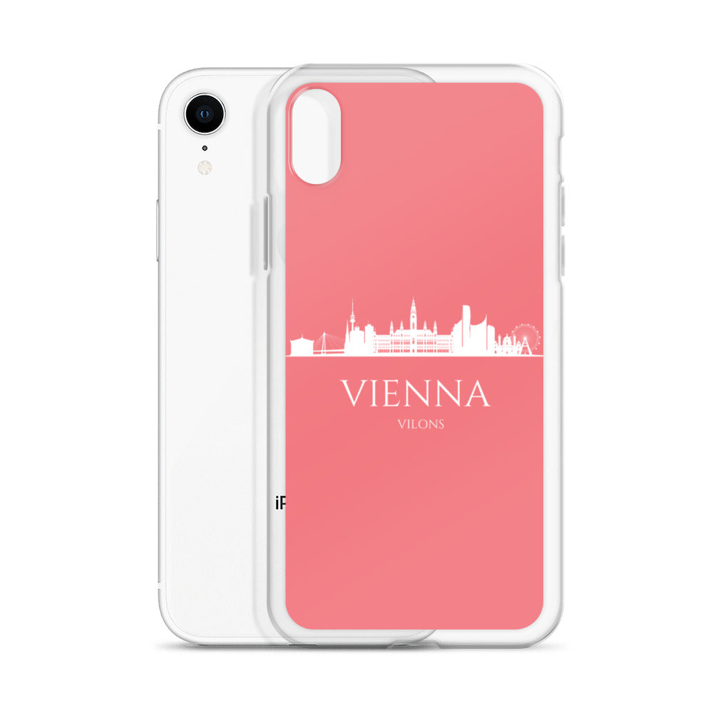 VIENNA PINK/WHITE iPhone Case