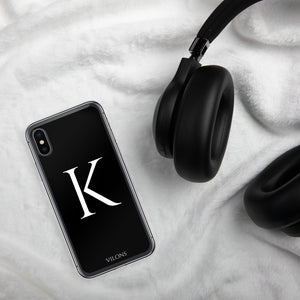 K BLACK iPhone Case