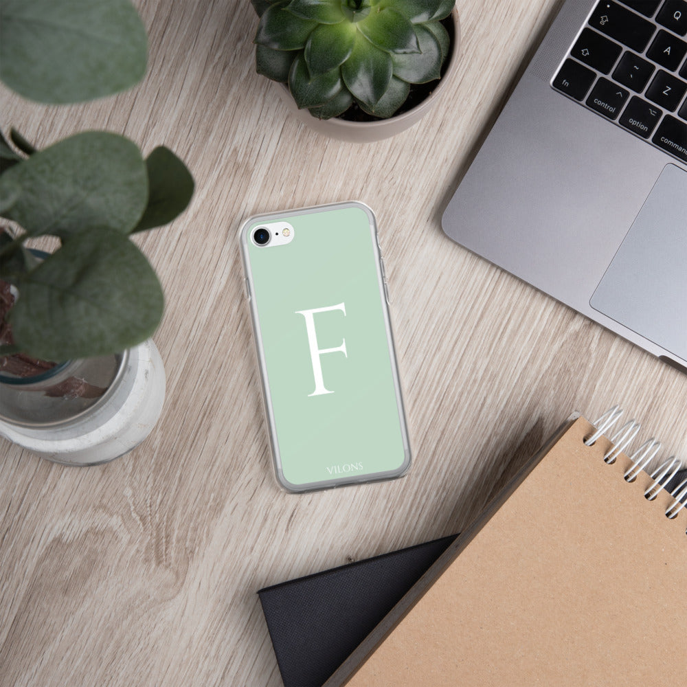 F LIGHT GREEN iPhone Case