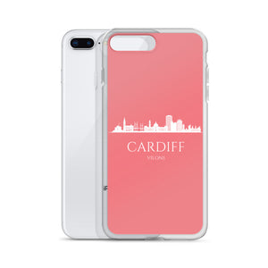 CARDIFF PINK/WHITE iPhone Case