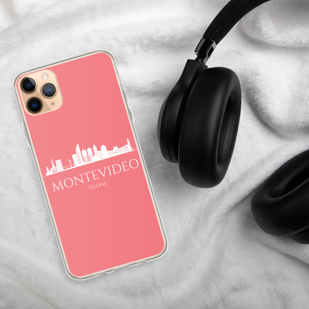 MONTEVIDEO PINK/WHITE iPhone Case