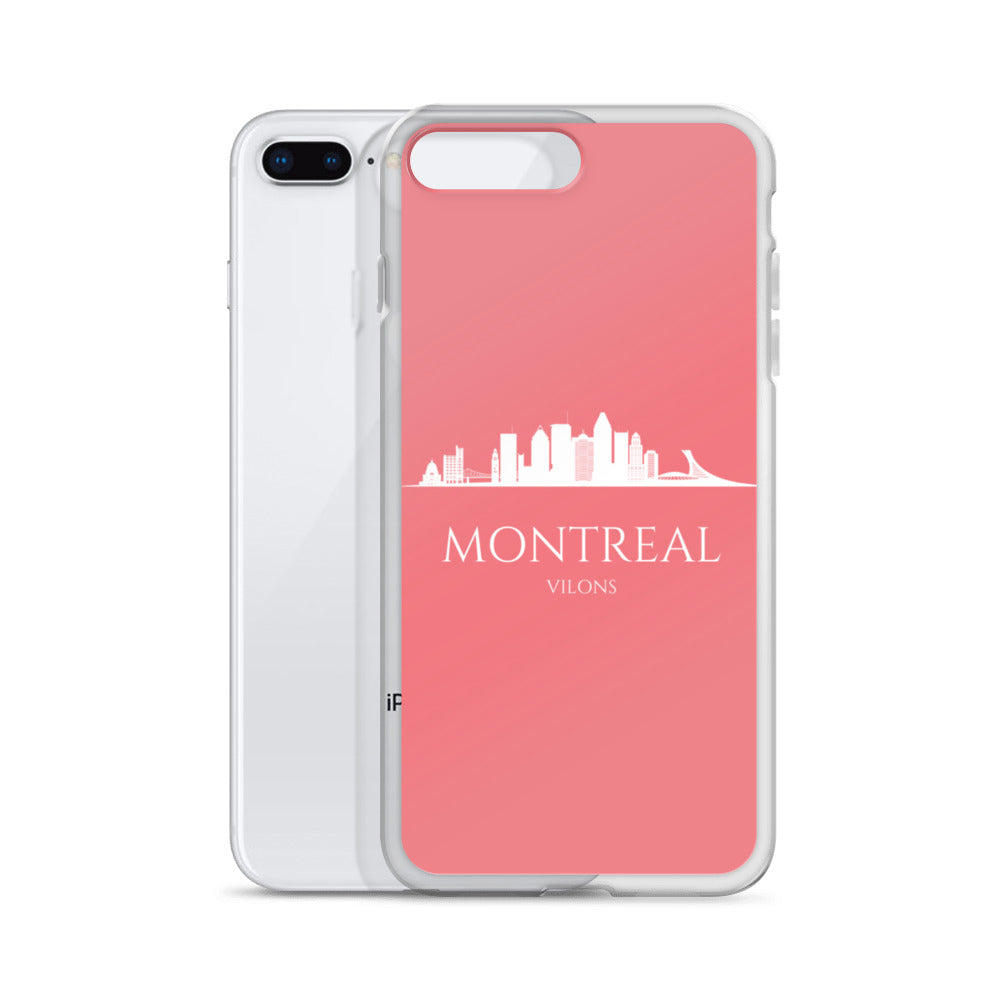 MONTREAL PINK/WHITE iPhone Case