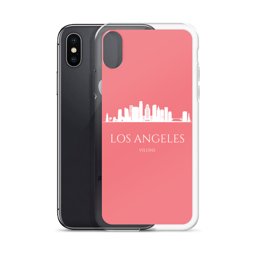 LOS ANGELES PINK/WHITE iPhone Case