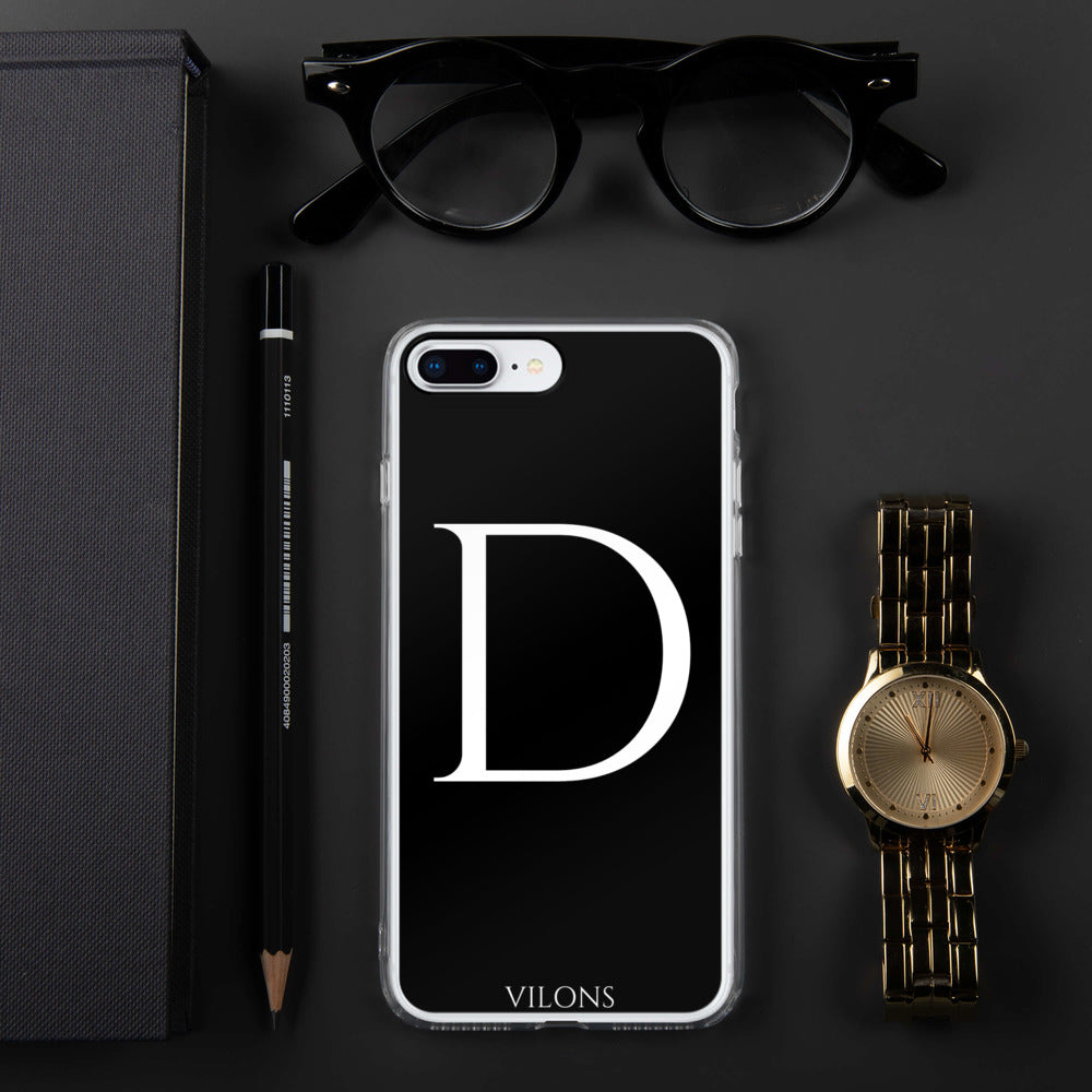 D BLACK iPhone Case