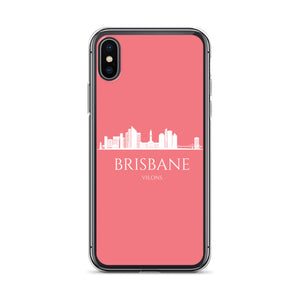 BRISBANE PINK/WHITE iPhone Case