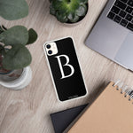 Load image into Gallery viewer, B BLACK iPhone Case