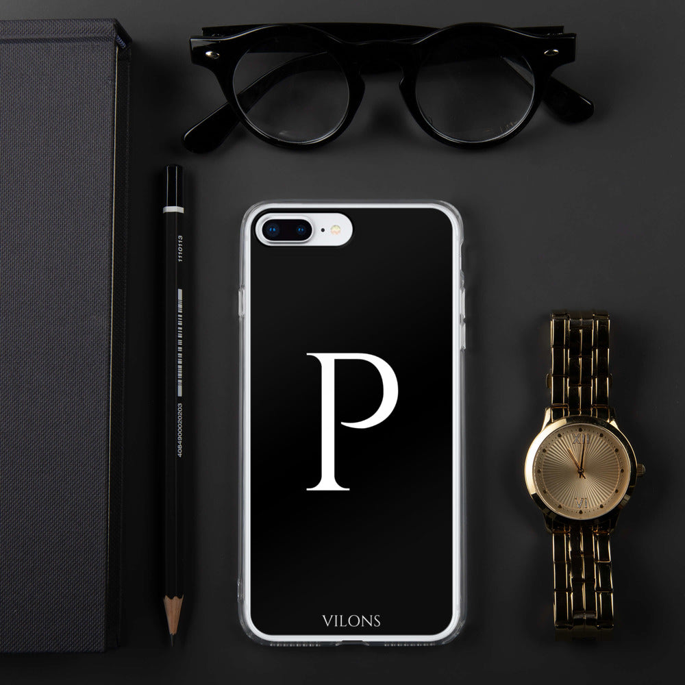 P BLACK iPhone Case