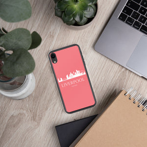 LIVERPOOL PINK/WHITE iPhone Case