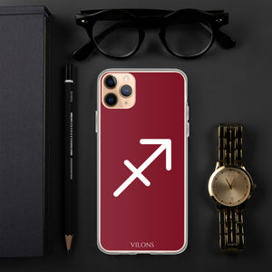 SAGITTARIUS RED iPhone Case