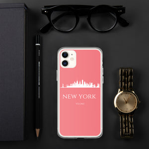 NEW YORK PINK/WHITE iPhone Case