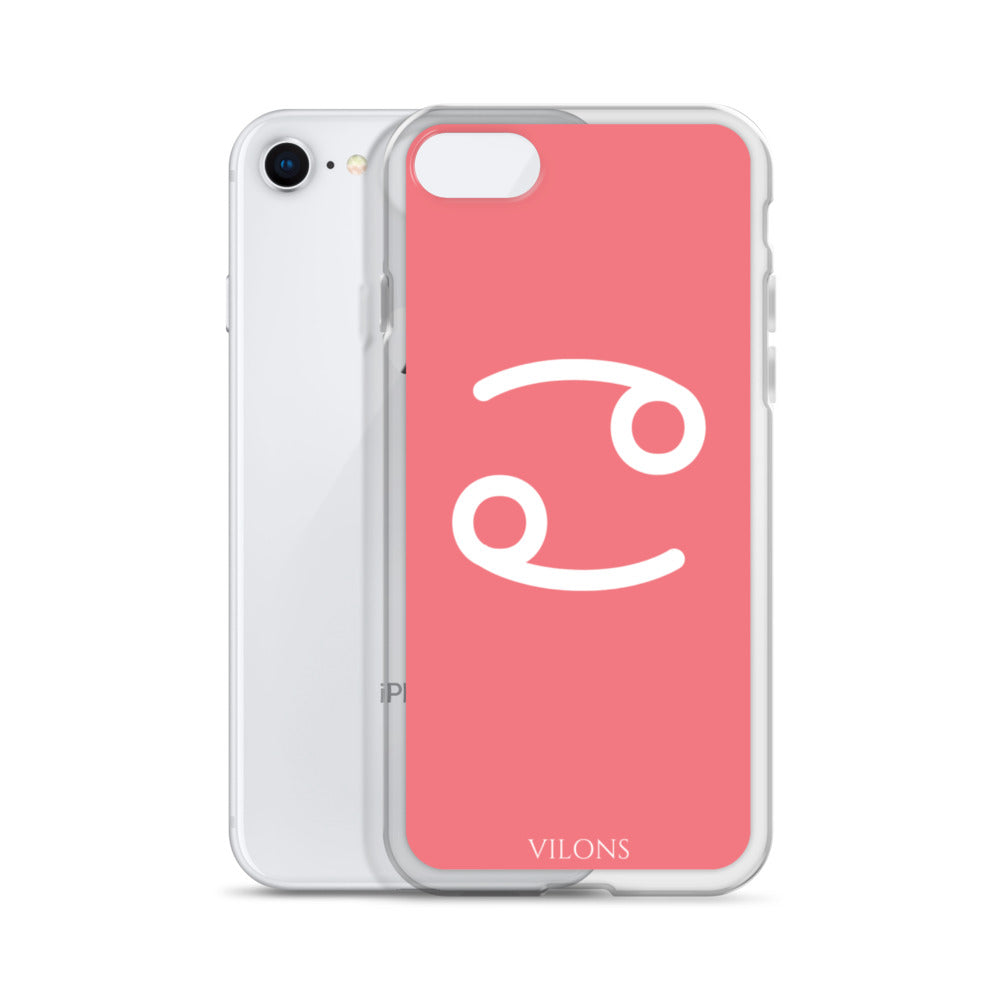 CANCER PINK/WHITE iPhone Case