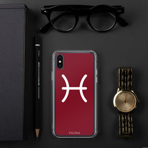 PISCES RED iPhone Case