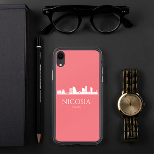 NICOSIA PINK/WHITE iPhone Case