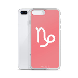 CAPRICORN PINK/WHITE iPhone Case