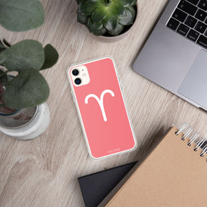 ARIES PINK/WHITE iPhone Case