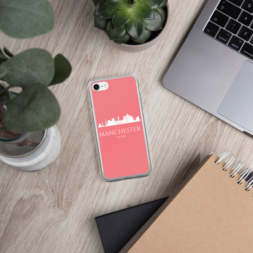 MANCHESTER PINK/WHITE iPhone Case