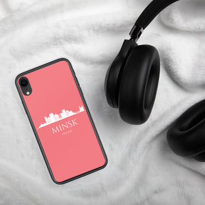 MINSK PINK/WHITE iPhone Case