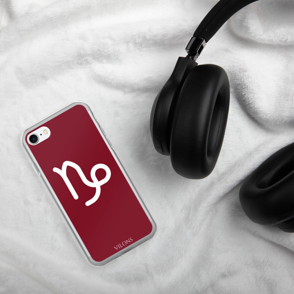 CAPRICORN RED iPhone Case