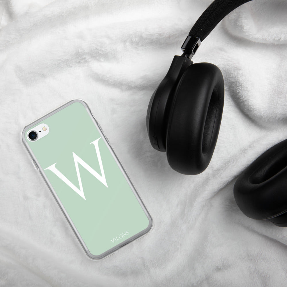 W LIGHT GREEN iPhone Case