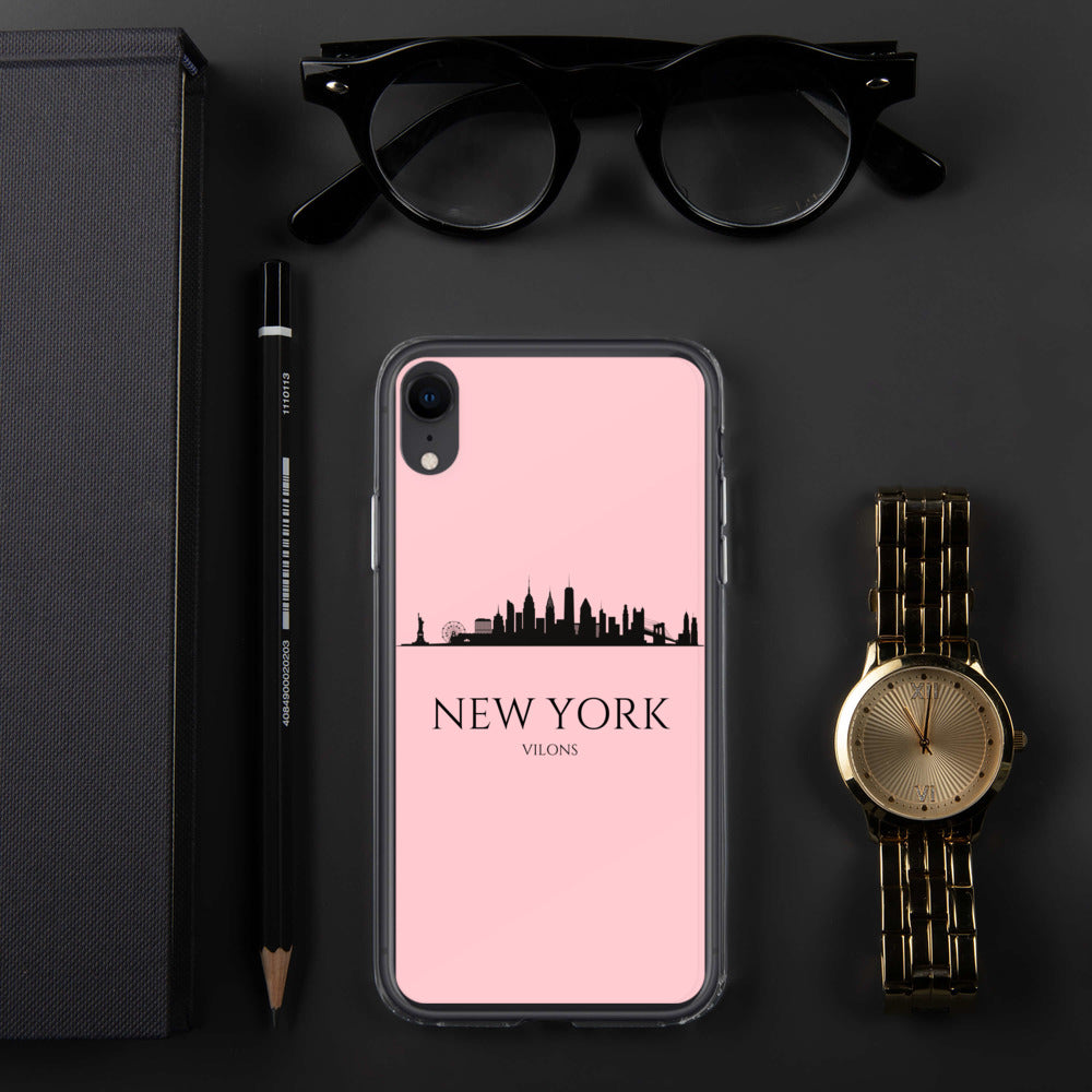 NEW YORK PINK iPhone Case