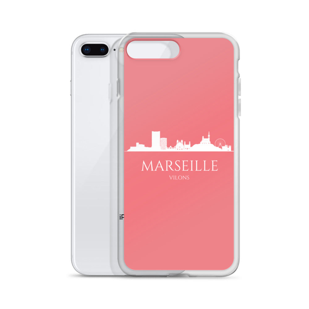 MARSEILLE PINK/WHITE iPhone Case
