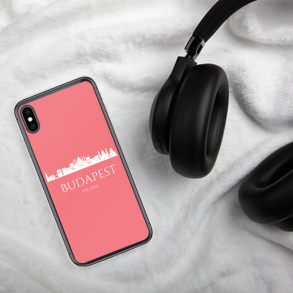 BUDAPEST PINK/WHITE iPhone Case