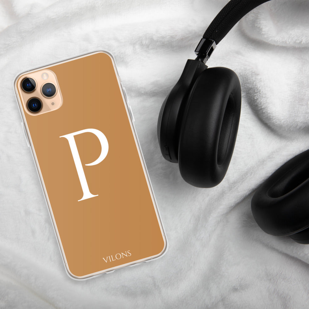 P BROWN iPhone Case
