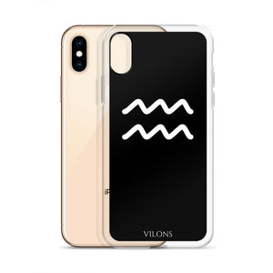 AQUARIUS BLACK iPhone Case