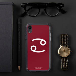 CANCER RED iPhone Case