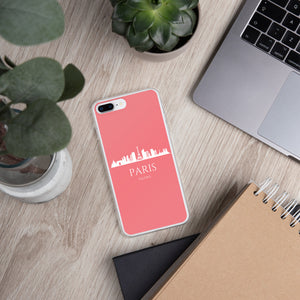 PARIS PINK/WHITE iPhone Case