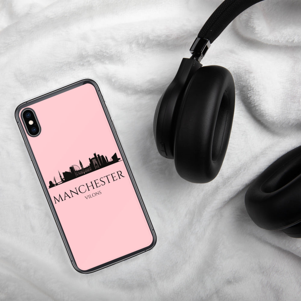 MANCHESTER PINK iPhone Case