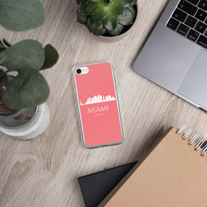 MIAMI PINK/WHITE iPhone Case
