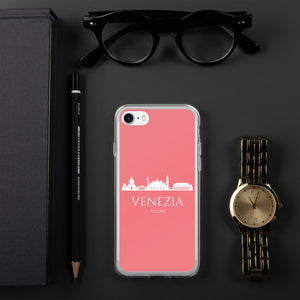 VENEZIA PINK/WHITE iPhone Case
