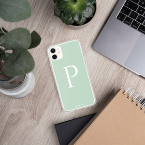 P LIGHT GREEN iPhone Case