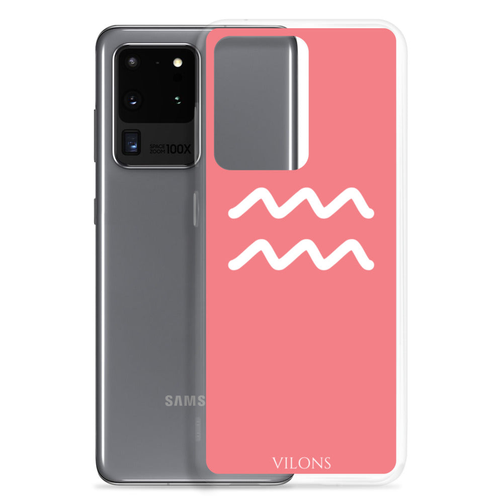 AQUARIUS PINK/WHITE Samsung Case